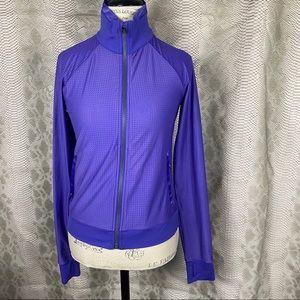 Lululemon purple mesh perforated jacket zip up